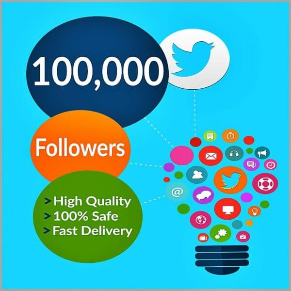 100000 twitter followers