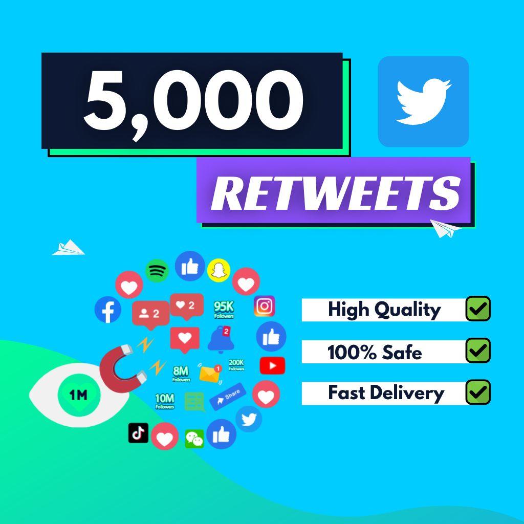 5000-Twitter-Retweets