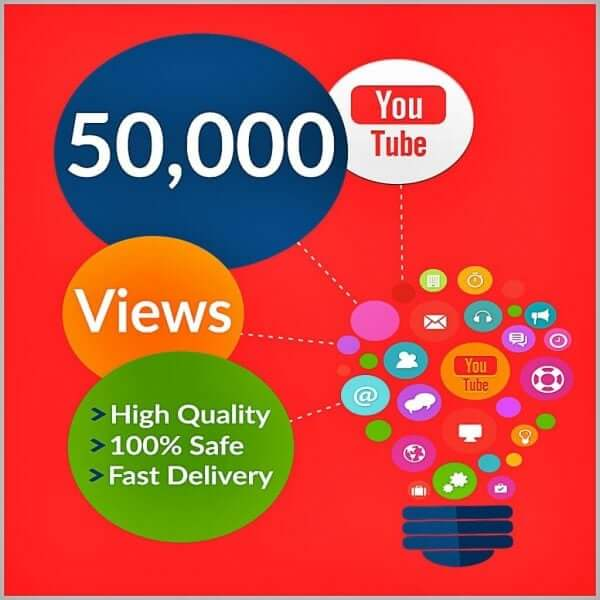 50000 YouTube Views