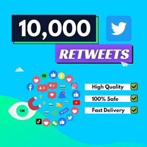10000 Twitter Retweets