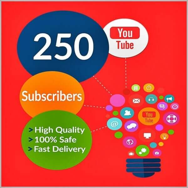 250 YouTube Subscribers