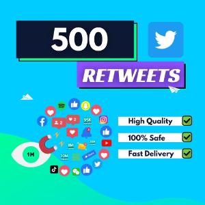 500 Twitter Retweets