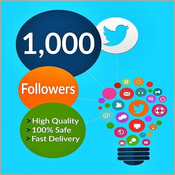 1000 Twitter Followers