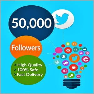 50000 twitter followers