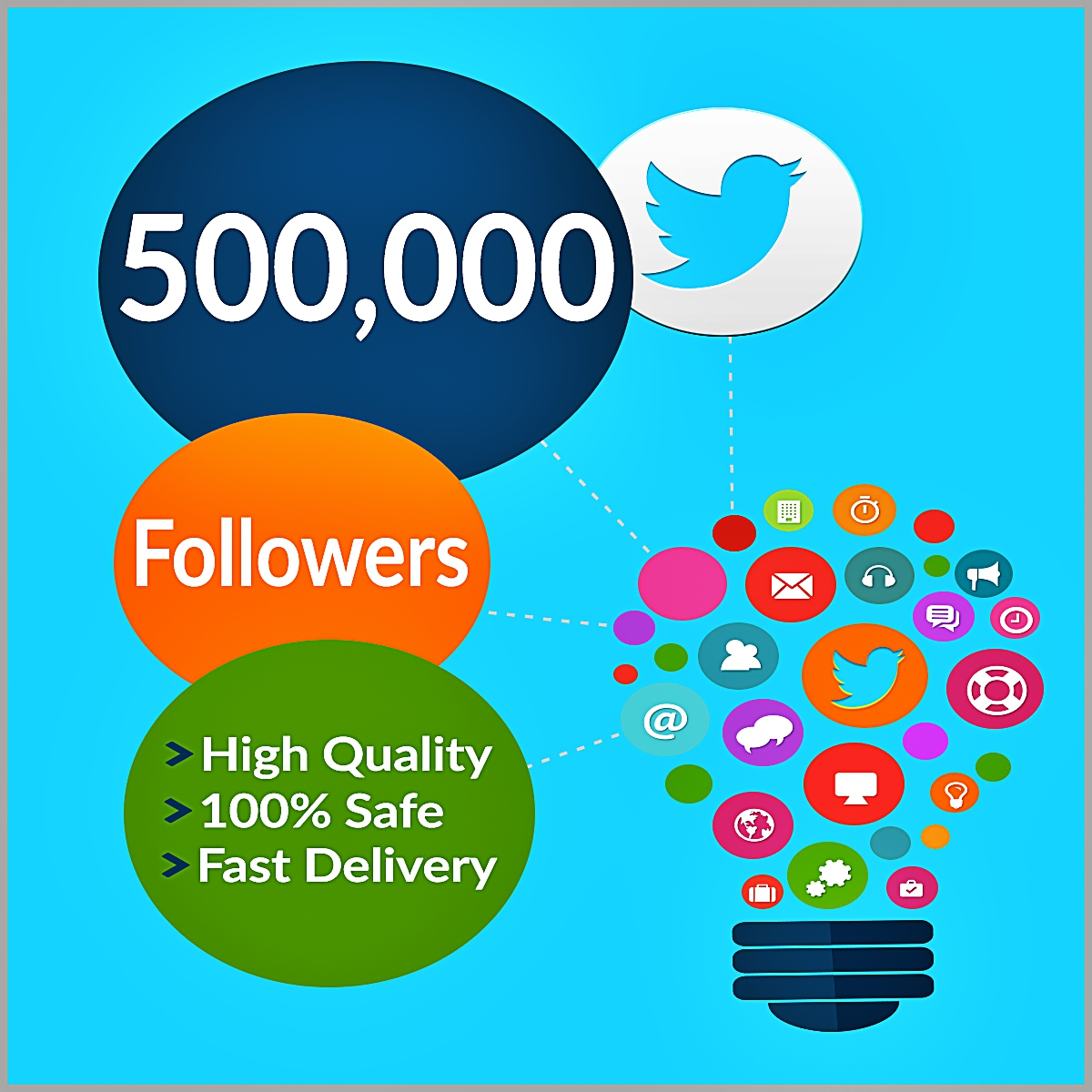500000 twitter followers