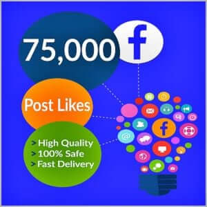 75000 facebook photo likes