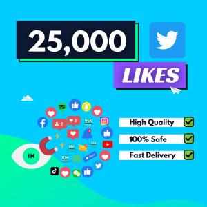 25000 Twitter Likes