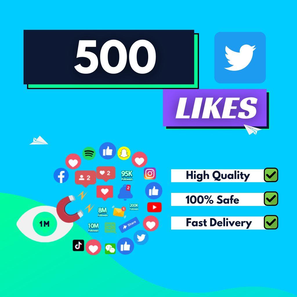 500 Twitter Likes