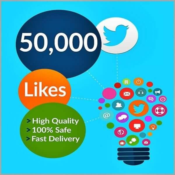 50000 Twitter Likes