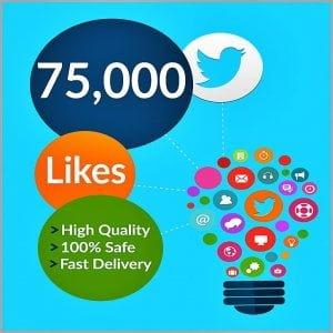 75000 Twitter Likes