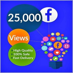 25000 facebook views