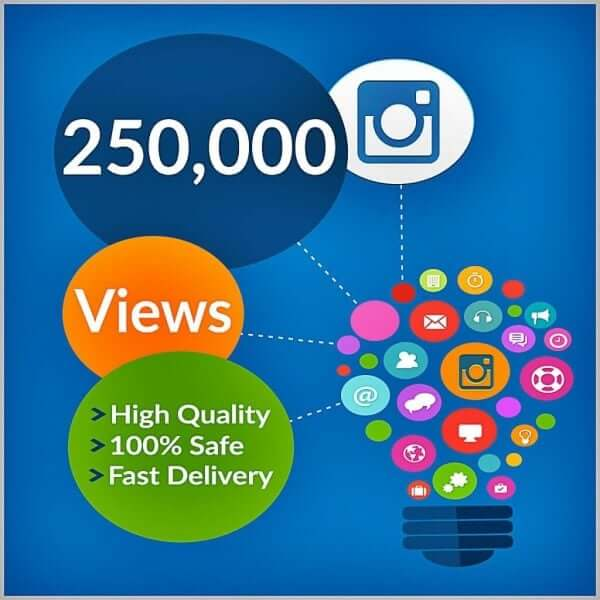250000 instagram views