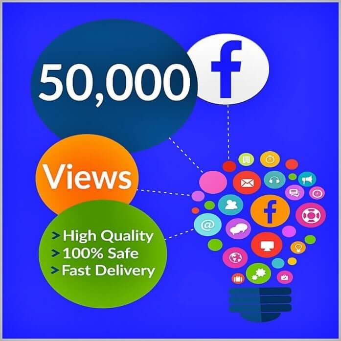 50000 facebook views