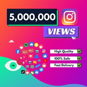 5 million instagram views