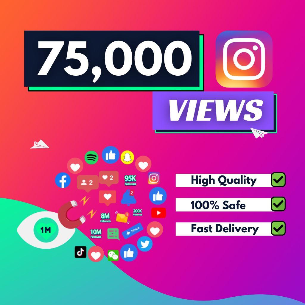 75000 instagram views