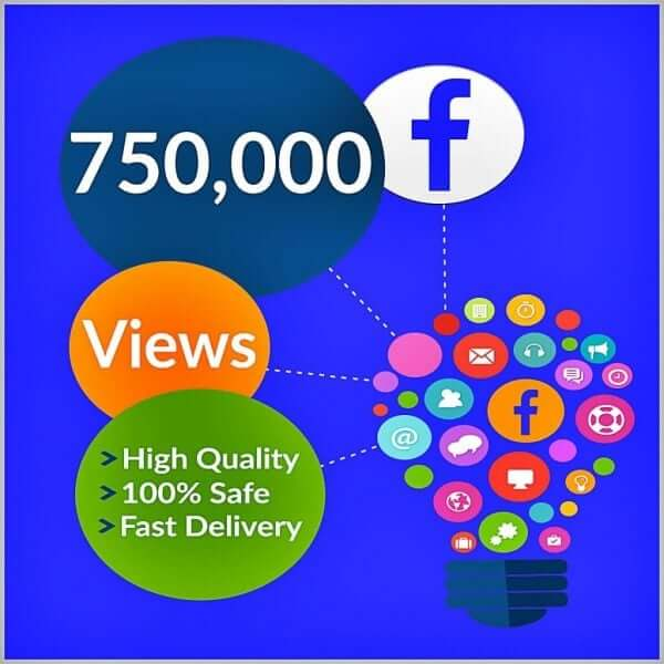 750000 facebook views