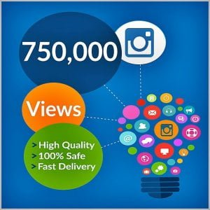 750000 instagram views
