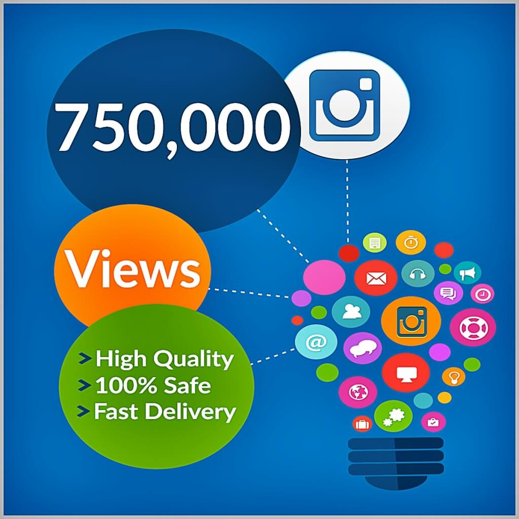 750000 instagram views