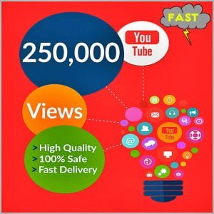 250000 Fast YouTube Views